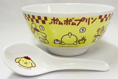 【中古】皿・茶碗(キャラクター) 6.ポムポムプリン ラーメンどんぶり 「サンリオ当りくじ オールキャラクター当りくじ」