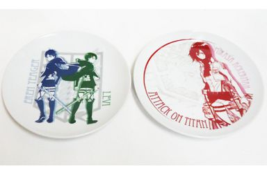 【中古】皿・茶碗(キャラクター) エレン&リヴァイ/ミカサ ペア皿セット 「進撃の巨人」