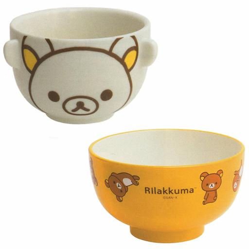 【新品】皿・茶碗(キャラクター) リラックマ 茶わん&汁わんセット 「リラックマ」