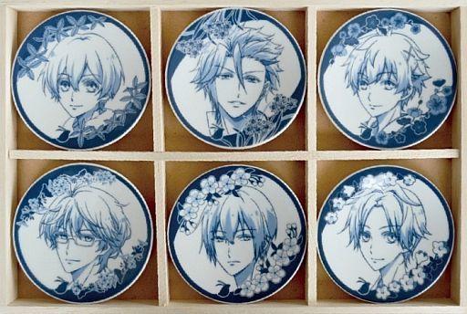 【中古】皿・茶碗(キャラクター) Six Gravity 豆皿セット(6枚入り) 「ツキウタ。 THE ANIMATION」