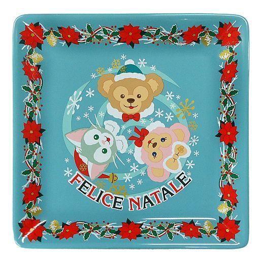 【中古】皿・茶碗(キャラクター) ダッフィーのクリスマス スーベニアプレート 「クリスマス・ウィッシュ2014」 東京ディズニーシー限定