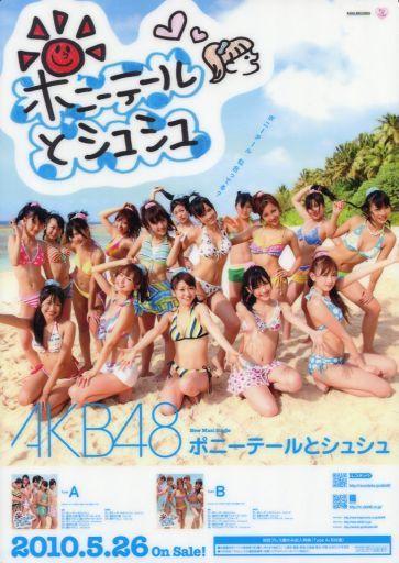 【中古】下敷き(女性アイドル) AKB48 B5下敷き(ポニーテールとシュシュ) 「CD 0と1の間」 楽天ブックス特典