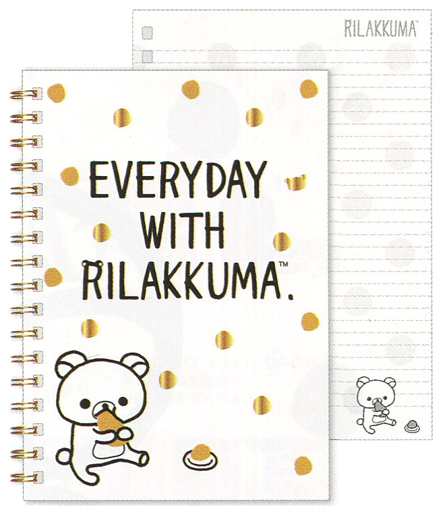 【新品】ノート・メモ帳 リラックマ(食事) モノクロリラックマテーマ A5SPノート 「リラックマ」