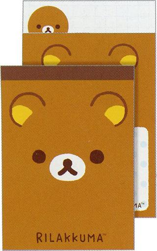 【新品】ノート・メモ帳 リラックマ フェイステーマ クロスメモ 「リラックマ」