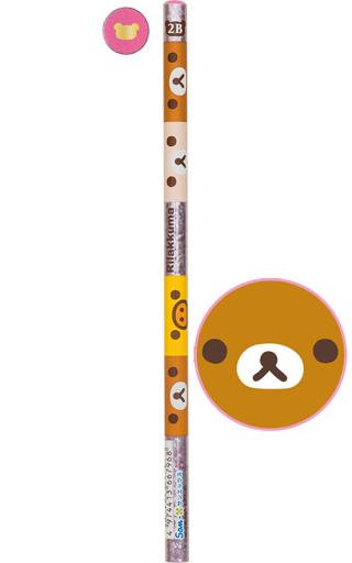 【中古】ペン リラックマ&コリラックマ&キイロイトリ(頂点ピンク) 鉛筆 2B 「リラックマ」