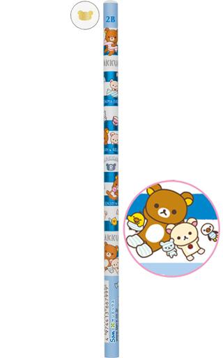【中古】ペン リラックマ&コリラックマ&キイロイトリ(頂点ホワイト) 鉛筆 2B 「リラックマ」