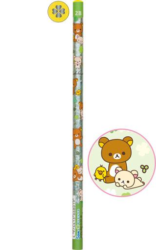 【中古】ペン リラックマ&コリラックマ&キイロイトリ(グリーン/頂点イエロー) 鉛筆 2B 「リラックマ」