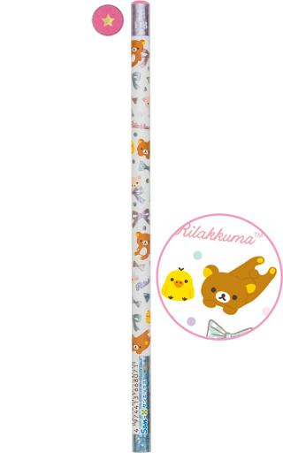 【中古】ペン リラックマ&キイロイトリ(ホワイト/頂点ピンク) 鉛筆 HB 「リラックマ」