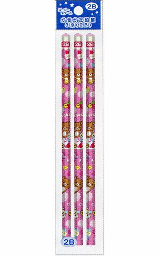 【中古】ペン リラックマ&コリラックマ&キイロイトリ(ケーキ) ゴーゴースクール かきかた鉛筆(3本入) 2B 「リラックマ」