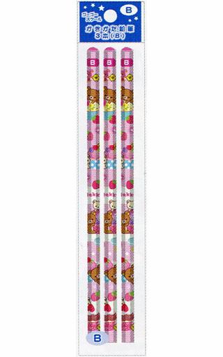 【新品】ペン リラックマ&コリラックマ&キイロイトリ(ケーキ) ゴーゴースクール かきかた鉛筆(3本入) B 「リラックマ」