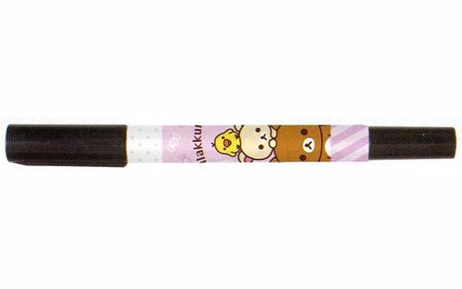 【新品】ペン リラックマ&コリラックマ&キイロイトリ(ピンク/インク黒) ハッピースクール お名前ペン 「リラックマ」