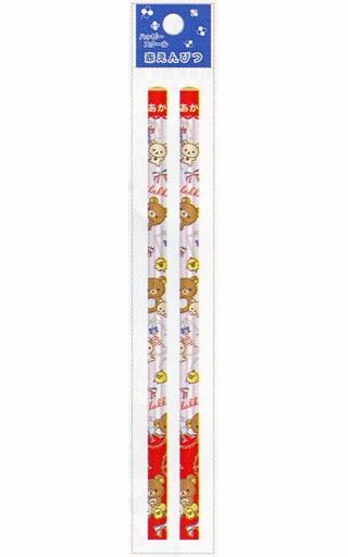 【新品】ペン リラックマ&コリラックマ&キイロイトリ(レッド×ピンク) ハッピースクール 赤鉛筆(2本入) 「リラックマ」