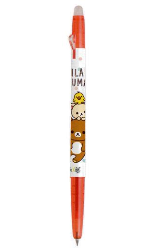 【新品】ペン リラックマ&コリラックマ&キイロイトリ(レッド) フリクションボールスリム0.38 「リラックマ」