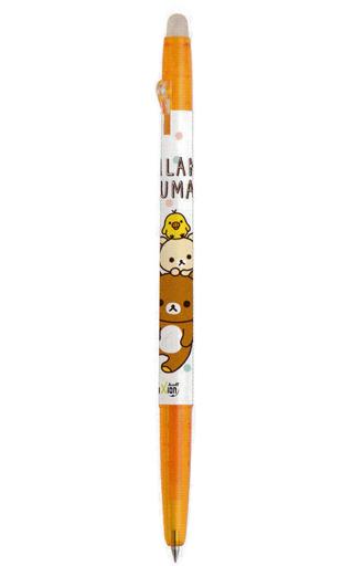 【新品】ペン リラックマ&コリラックマ&キイロイトリ(オレンジ) フリクションボールスリム0.38 「リラックマ」
