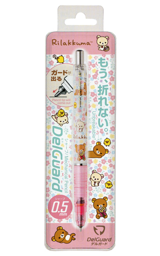 【新品】ペン 集合(本体ホワイト×ピンク) デルガード 「リラックマ」
