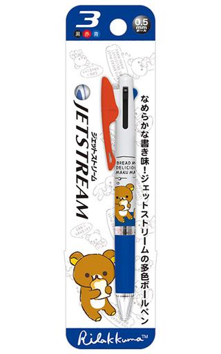 【中古】ペン リラックマ(ホワイト×ブルー) ジェットストリーム3C 「リラックマ」