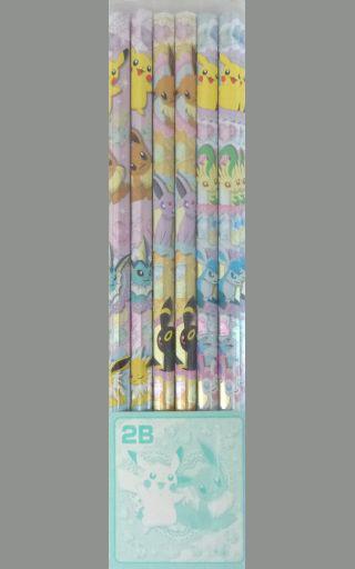 【中古】ペン ピカチュウとイーブイフレンズ 2B鉛筆12本セット 「ポケットモンスター」 ポケモンセンター限定
