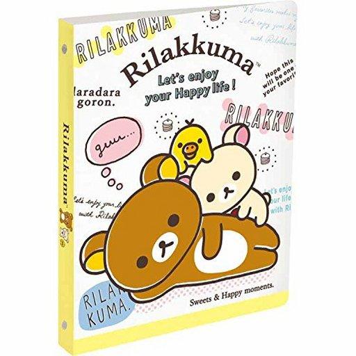 【新品】文房具その他 リラックマ&コリラックマ&キイロイトリ B5ルーズリーフバインダー 「リラックマ」