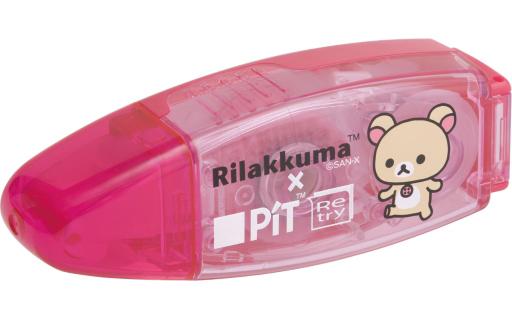 【新品】文房具その他 コリラックマ(ピンク) テープのり ピットリトライC 「リラックマ」