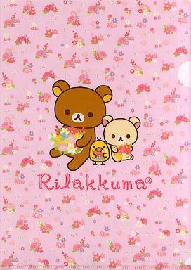 【中古】クリアファイル リラックマ クリアファイル(ピンク×花柄)「ローソンdeリラックマ」2012年キャンペーングッズ
