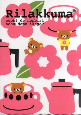【中古】クリアファイル リラックマ クリアファイル(ピンク/花)「ローソンdeリラックマ」2011年キャンペーングッズ