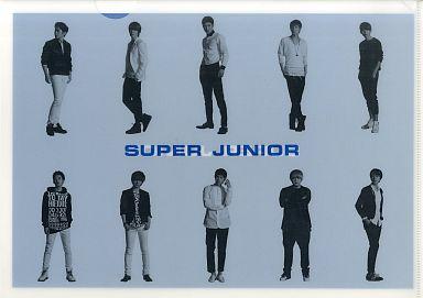 【中古】クリアファイル(男性アイドル) SUPER JUNIOR(立ち姿・横2段) A4クリアファイル サークルKサンクス 韓国フェア WITH SUPER JUNIOR プレゼントグッズ