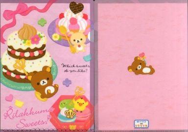 【中古】クリアファイル リラックマ A4クリアファイル(ピンク/Rilakkuma Sweets) 「ローソンdeリラックマ」 2012年キャンペーングッズ