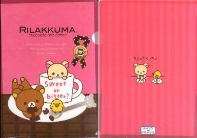 【中古】クリアファイル リラックマ A4クリアファイル(チョコ×カップ) 「ローソンdeリラックマ chocolate and coffee」 2011年秋キャンペーングッズ第1弾