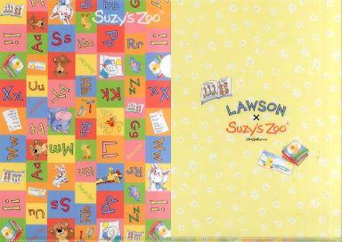 【中古】クリアファイル 集合(チェック柄) A4クリアファイル 「Suzy's Zoo」 ローソン限定オリジナルキャンペーングッズ