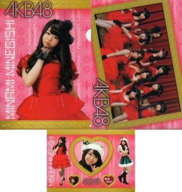 【中古】クリアファイル(女性アイドル) 峯岸みなみ/AKB48 A4クリアファイル&シール セブンイレブン限定