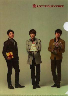【中古】クリアファイル(男性アイドル) [単品] JYJ A4クリアファイル 「LOTTE DUTY FREE クリアファイルセット」