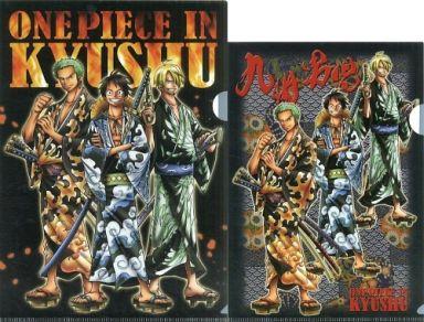 "Luffy & Zoro Sanji Kyushu Limited A4 · B5 Clear File 2 piece set ""One Piece"""