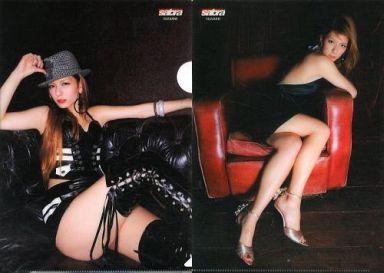 【中古】クリアファイル(女性アイドル) スザンヌ(黒・赤ソファー) B5クリアファイル sabra(サブラ)付録