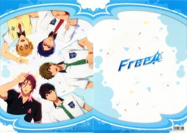 【中古】クリアファイル 集合(5人)/ロゴ A4クリアファイル 「Free!」