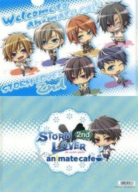 集合(6人/背景:ブルー) A4クリアファイル 「STORM LOVER 2nd×animatecafe」 アニメイトカフェ限定