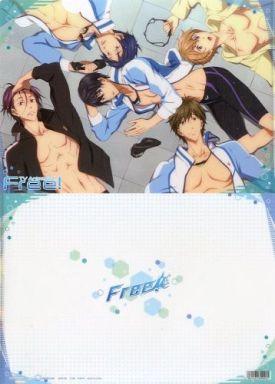 【中古】クリアファイル B.集合(5人/寝転び) A4クリアファイル 「Free!」
