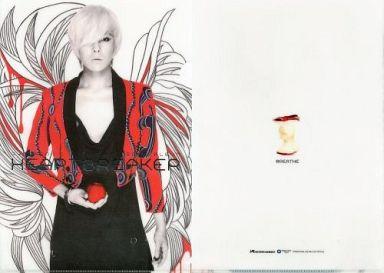 【中古】クリアファイル(男性アイドル) G-DRAGON(from BIGBANG) A4クリアファイル BREATHE Ver. 「CD HEARTBREAKER」 購入特典