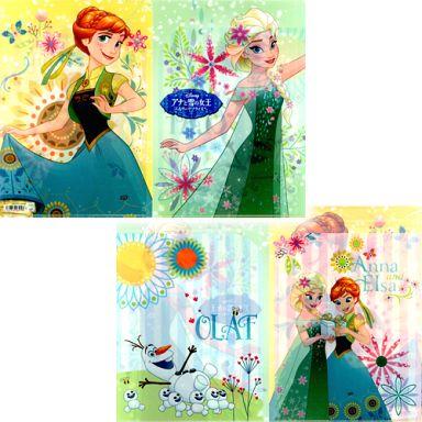 買取 イラスト Wポケットクリアファイル アナと雪の女王 エルサの