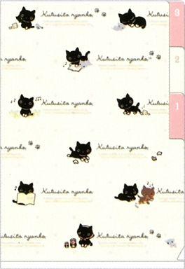 【中古】クリアファイル 靴下にゃんこ&ロッシー&バミちゃん ミニインデックスホルダー 「靴下にゃんこ」
