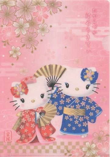 【中古】クリアファイル(女性アイドル) キティ&ミミィ A4クリアファイル11th(和柄) 「ハローキティ×宝塚歌劇団」