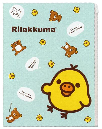 【中古】クリアファイル キイロイトリ クリアホルダー(6+1ポケット) 「リラックマ」