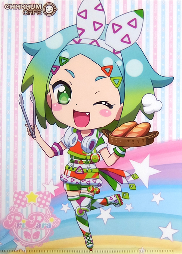 虹色にの アイドルタイムプリパラcharaum Cafe A4クリアファイル
