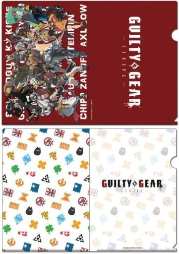 empty 予約 クリアファイル 全員集合ver.&総柄ver. A4クリアファイルセット(2枚組) 「GUILTY GEAR -STRIVE-」