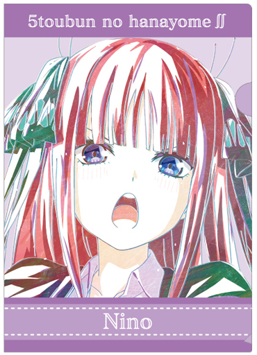 アルマビアンカ 予約 クリアファイル 中野二乃 Ani-Art 第3弾 A4クリアファイル 「五等分の花嫁∬」