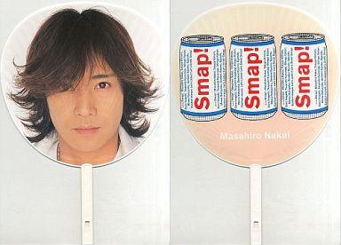 【中古】うちわ(男性) 中居正広 ジャンボうちわ 「SMAP'02 Drink! Smap! Tour」