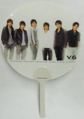 【中古】うちわ(男性) V6 ミニうちわ 2008年