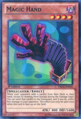 【中古】遊戯王/英語版/SR/Dragons of Legend DRLG-EN045 [SR] : Magic Hand/マジック・ハンド