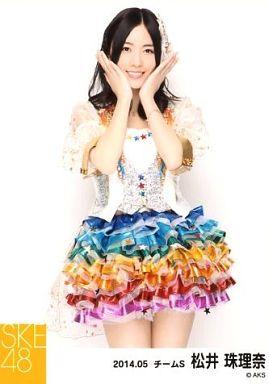 【中古】生写真(AKB48・SKE48)/アイドル/SKE48 松井珠理奈/膝上・両手顔/「NHK紅白ステージ衣装」「2014.05」個別生写真