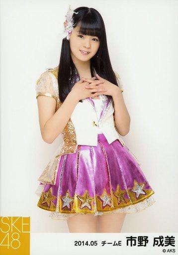 【中古】生写真(AKB48・SKE48)/アイドル/SKE48 市野成美/膝上・両手胸元/「NHK紅白ステージ衣装」「2014.05」個別生写真