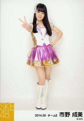 【中古】生写真(AKB48・SKE48)/アイドル/SKE48 市野成美/全身・左手腰・右手ピース/「NHK紅白ステージ衣装」「2014.05」個別生写真